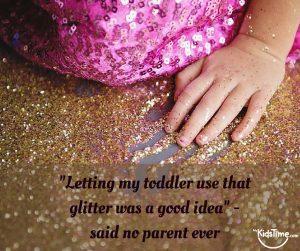 Toddler glitter
