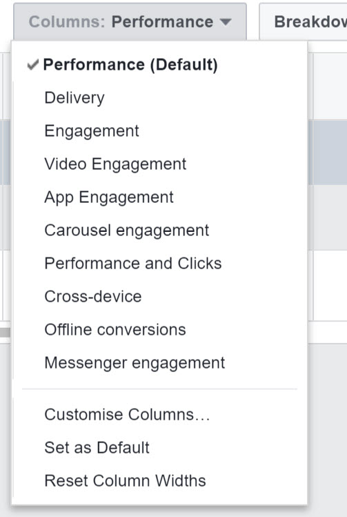 facebook ad manager stats